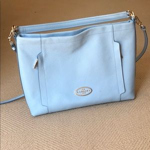 Coach Baby Blue Tote Bag